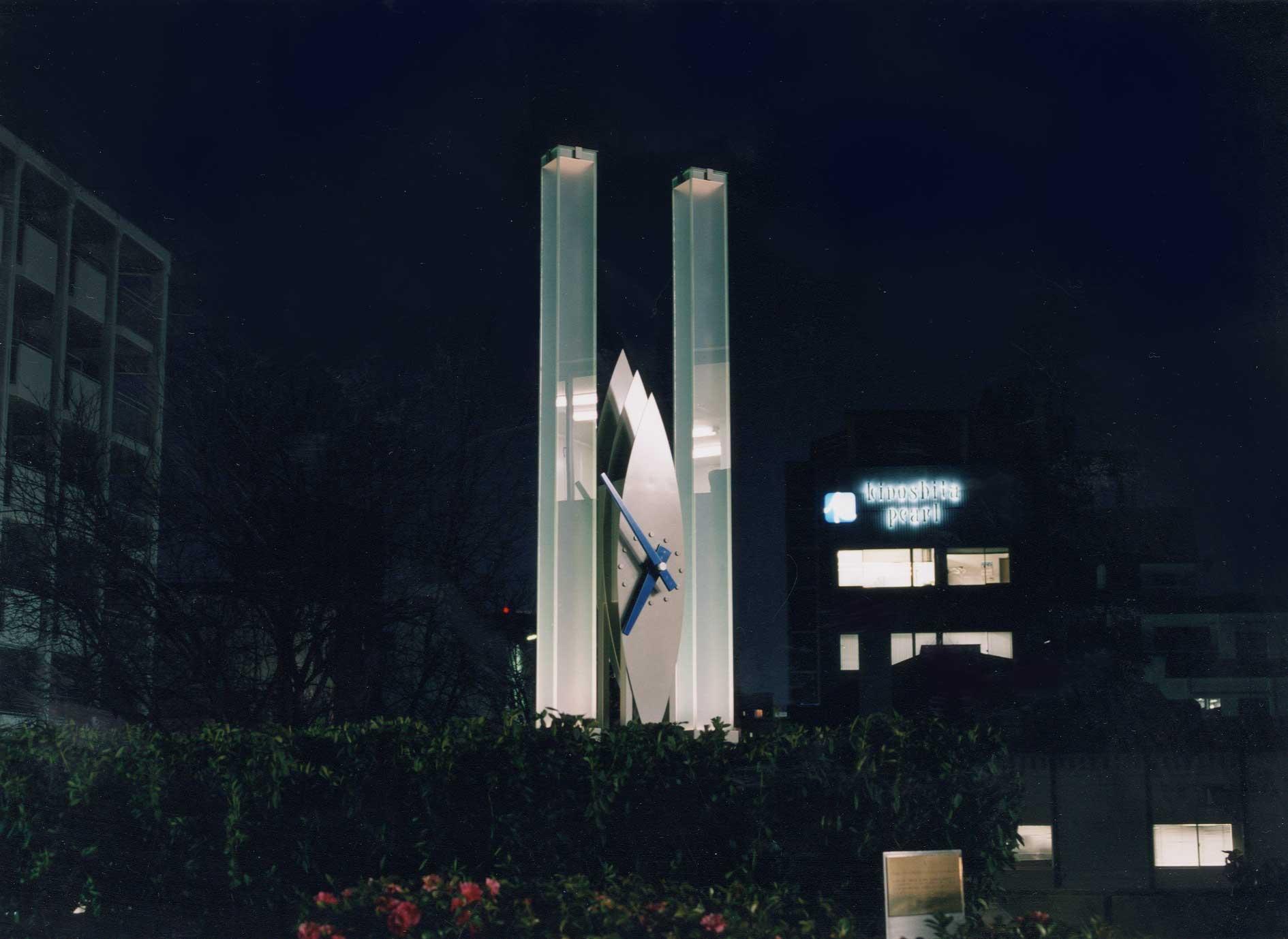 三星堂記念碑時計塔